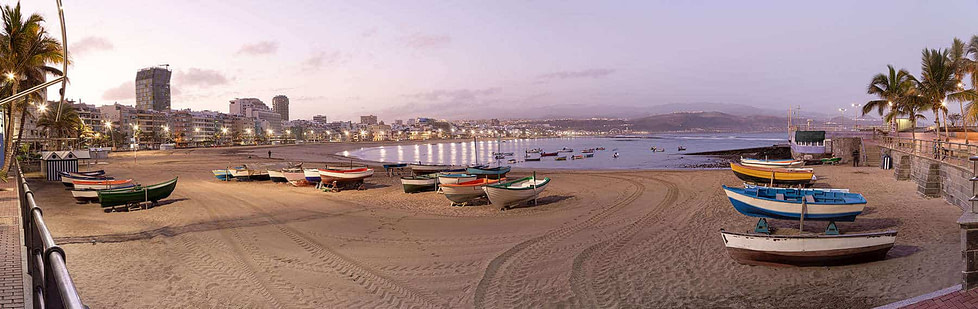 European locations with great weather throughout the year - Las Palmas, Spain