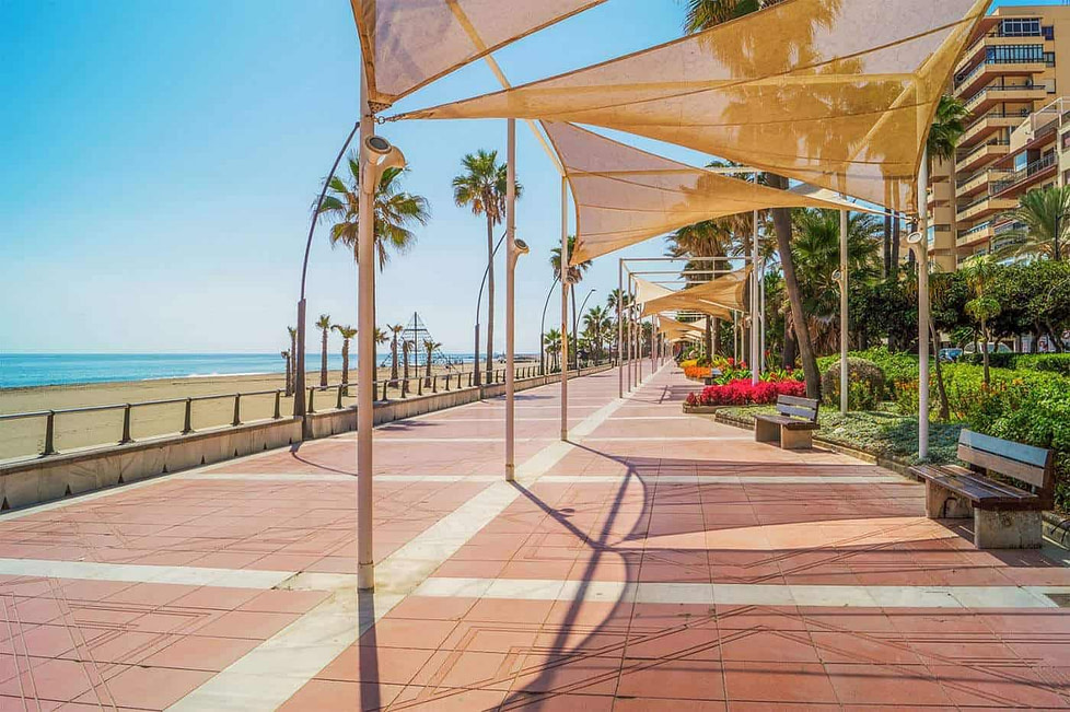 The promenade Estepona - Spain
