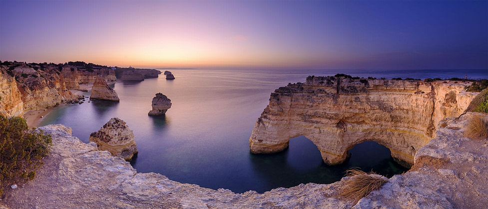 The stunning Algarve coast near Faro - Portugal