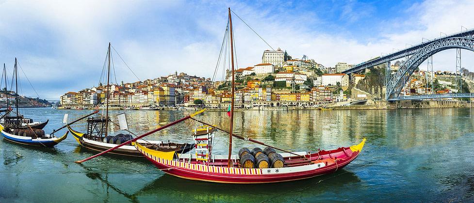 Traditional Boats in Porto - Portugal