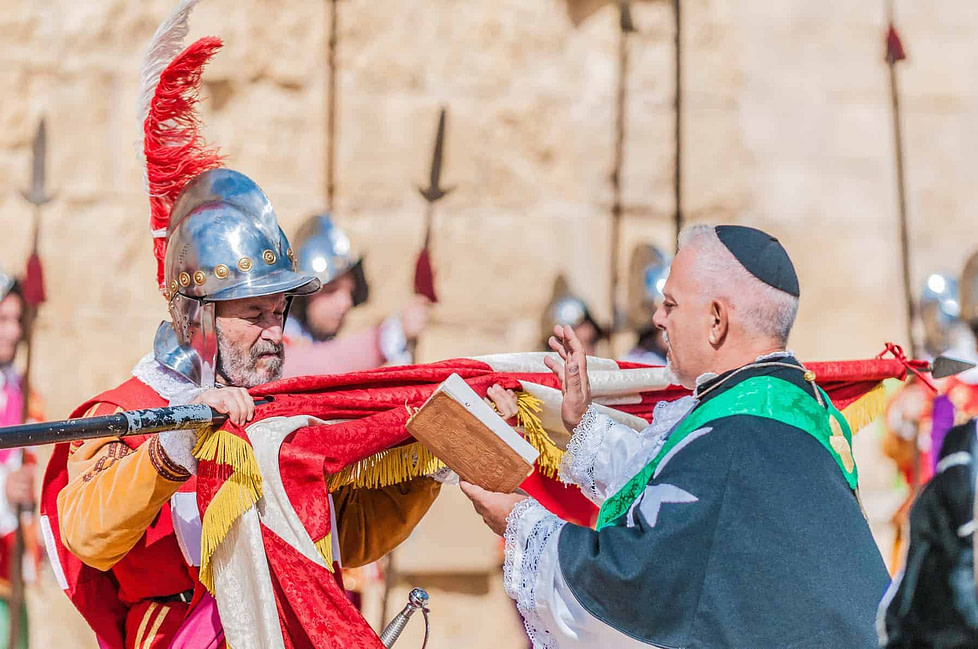 Living in Malta: In Guardia re-enacting the inspection of the fort and its garrison by the Grand Bailiff of the Order of the Knights of St. John in Malta