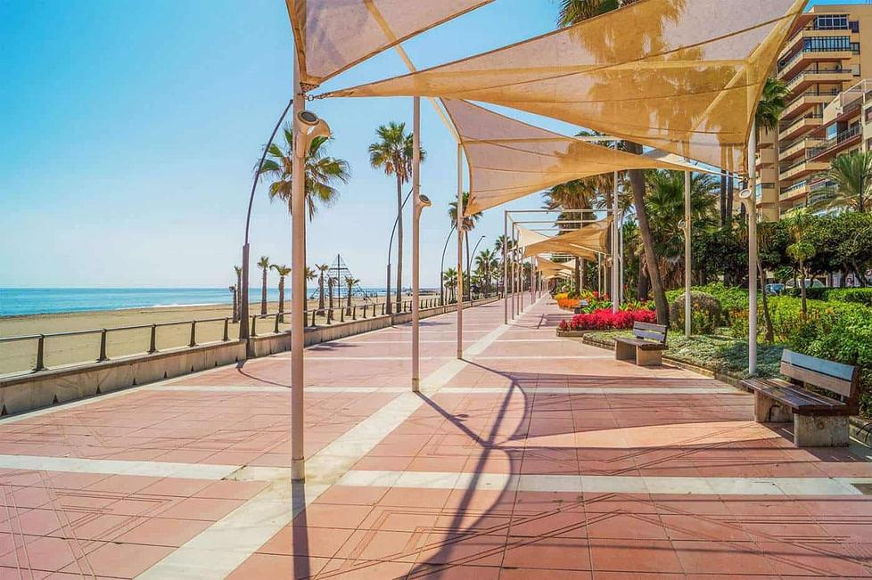 The promenade Estepona - Spain