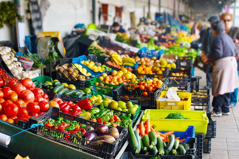 A farmer's market in Porto - Portugal