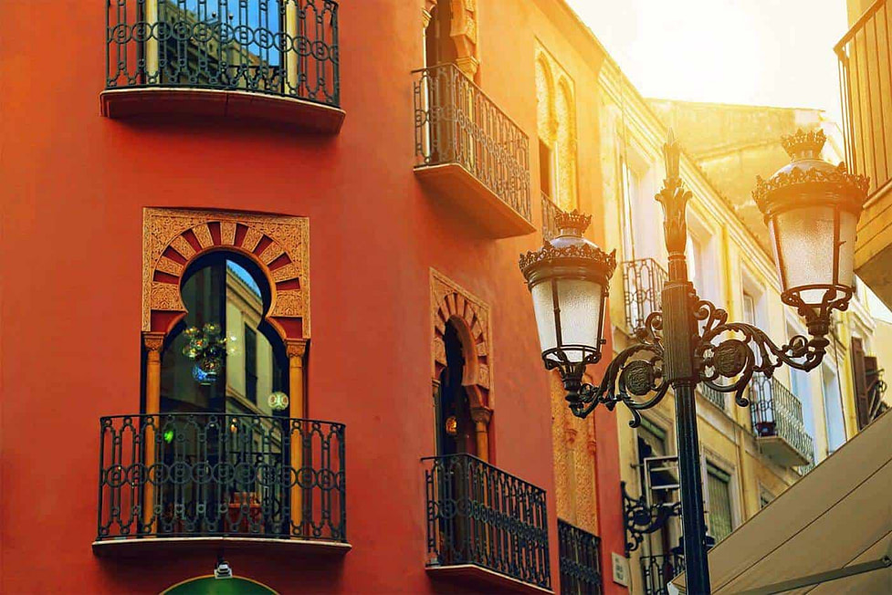 The old town streets in Malaga - Spain