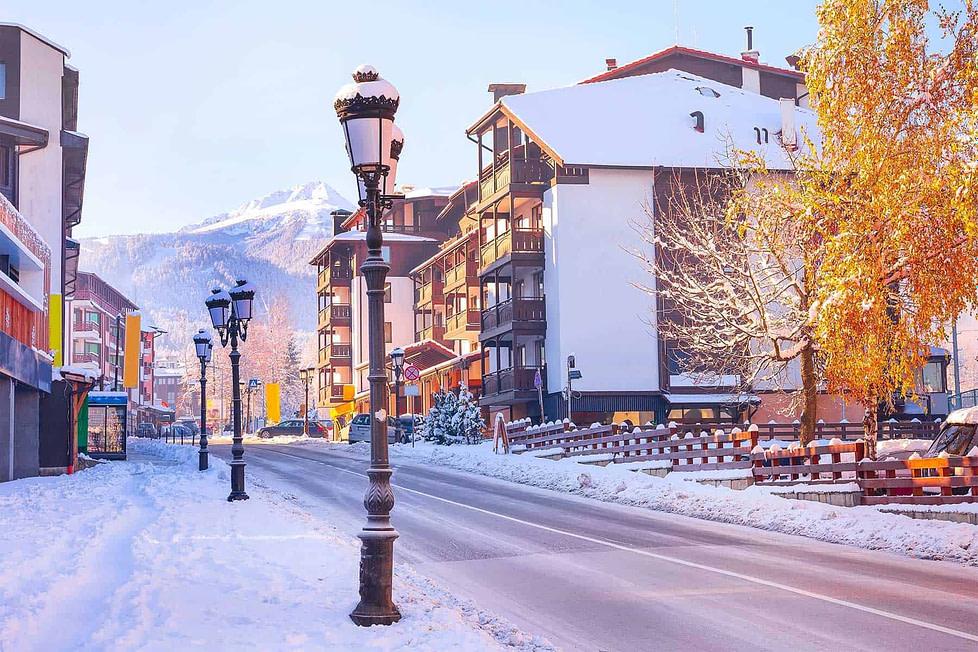 Bansko in Bulgaria. Popular ski resort.