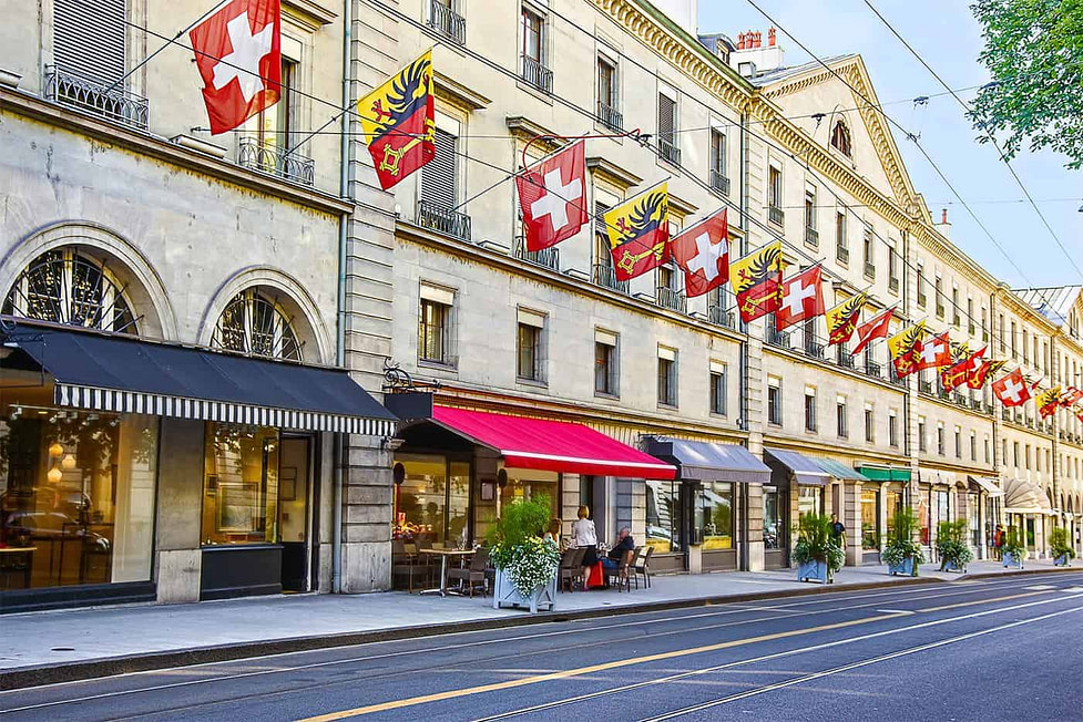 Geneva in Switzerland has a high paid expat population