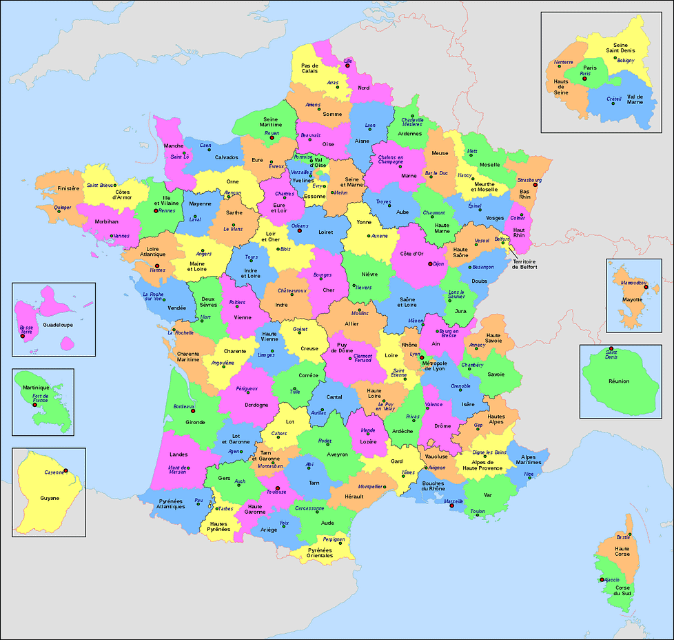 Best places to live in France - Departments of France